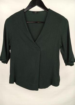Блуза cos зеленого цвета. размер xs