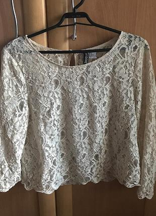 Кружевная блуза h&m
