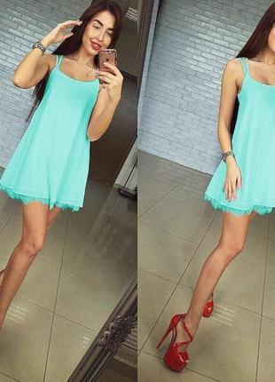 Платье шелк армани, кружево