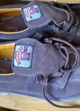 Мужские туфли100%кожа/нубук