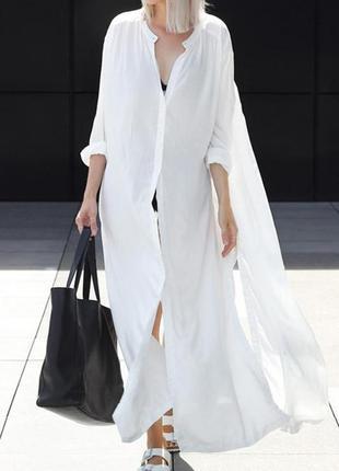 🔳 трендовое платье-рубашка, хлопок, платье оверсайз 🔳