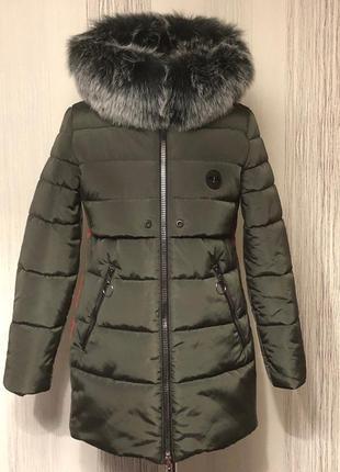 Стильна зимова куртка 44-52 розмір