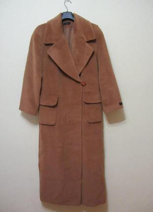 """V art пальто осеннее теплое длинное  """"в пол"""" , размер 38, м"""