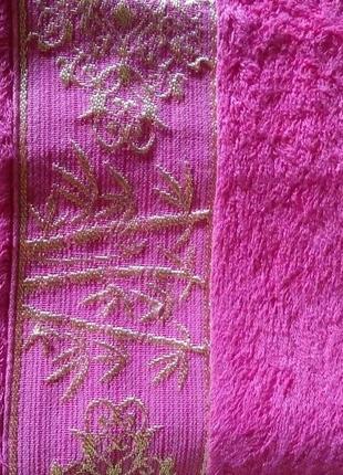 70х140см банное бамбуковое полотенце