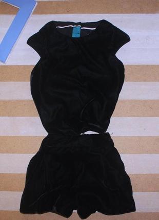Великолепный бархатный костюм на 1-2 года (80-86 см) autograph