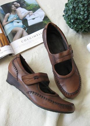 Комфортные ортопедические туфли из натуральной кожи medicus (германия), р-р 38