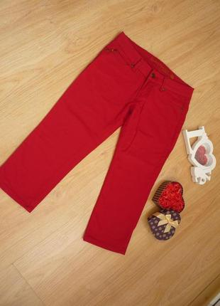 Красные джинсовые бриджи / капри / sisters point