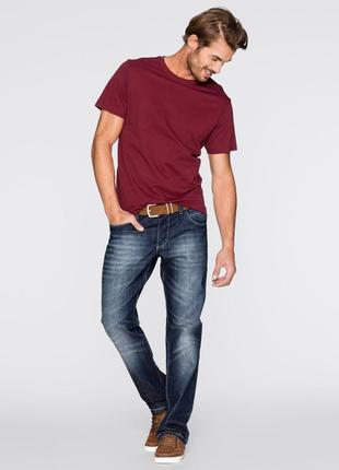 Базовая бордовая мужская футболка марсала 100% коттон испания размеры