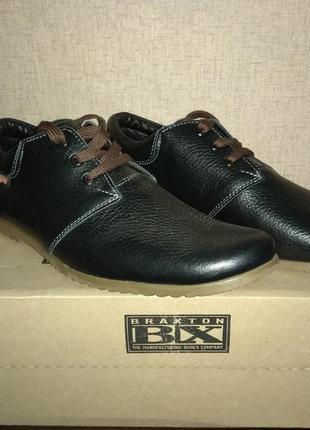 Шкряні чоловічі туфлі(мужские туфли)braxton