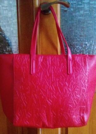 Стильная красная сумка, еко-кожа, мери кей, mary kay