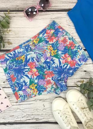 Яркие шорты с тропическим принтом  pn1833009  topshop