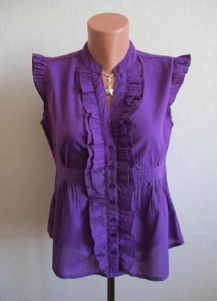 Красивая блузка с коротким рукавом и воланами f&f
