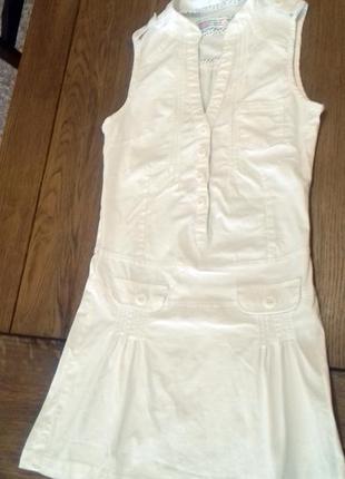 Белоснежное платье / сарафан/ комбинезон от bershka.  размер м,