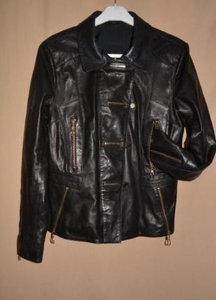 Куртка кожаная женская размер 44 (xxl)