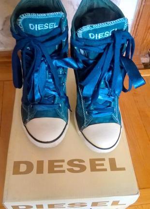 Туфли-кеды на каблуке diesel