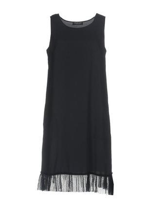 Платье twin-set simona barbieri р.xs на s-m с кружевом темно-синего цвета. новое