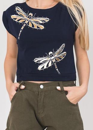 Короткая молодежная футболка
