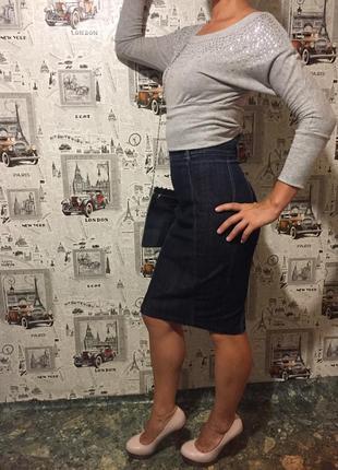 Юбка джинсовая высокая посадка (привезена с италии ) тм miss sixty