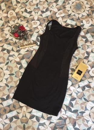 Короткое вечернее платье с замшевыми вставками