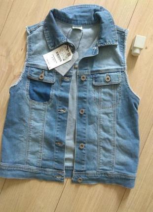 Безрукавка джинсовая zara