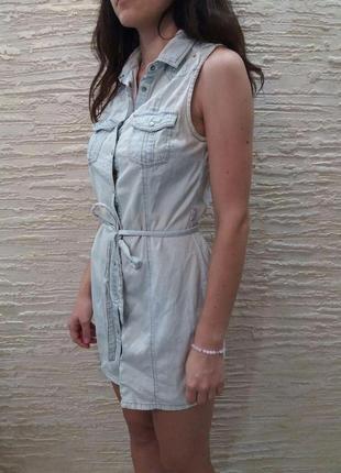 Актуальный джинсовый сарафан под пояс
