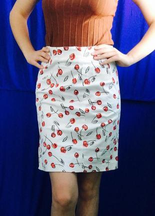 Винтажная женская узкая мини юбка карандаш joye+fun выше колена