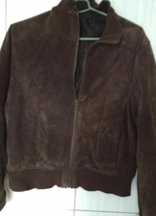 Замшевая куртка бомбер