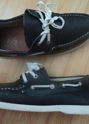 Кожаные туфли,мокасины р6,стелька 25см