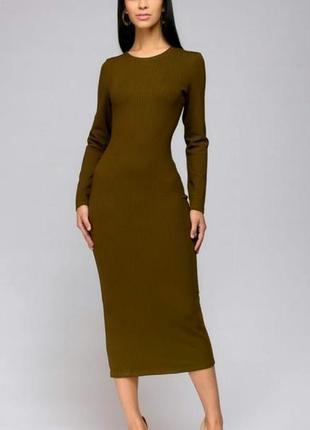 Котоновое платье миди atmosphere