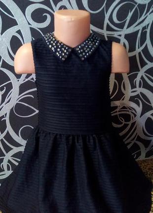 Нарядное платье с камнями, next,4-5л.1