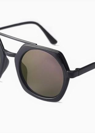 Уценка большие широкие солнцезащитные круглые очки гранды цветные линзы хамелеоны