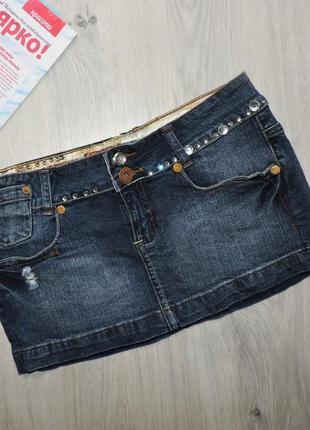 Мини юбка, джинсовая юбка
