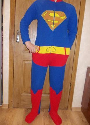 Пижама слип кигуруми комбинезон супермен р.s рост 170-180см Primark ... 11c8410bf26a7