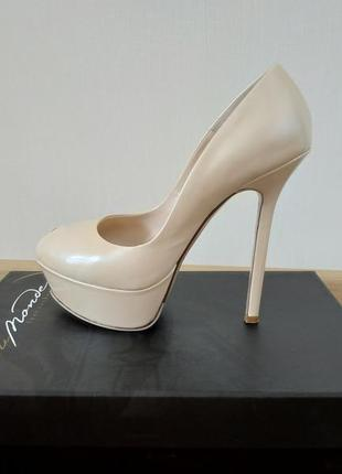 Жемчужные туфли  du monde,vero cuoio (италия)
