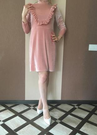 Новое бархатное платье asos