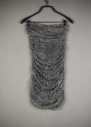 Красивое короткое леопардовое платье от zebra