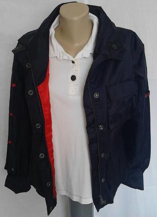 Крутая ветровка,курточка,синий/малиновый,на молнии+кнопки,карманы we love