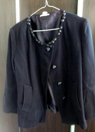 Кашемировая курточка тренд рукава воланы/оборки шанелька
