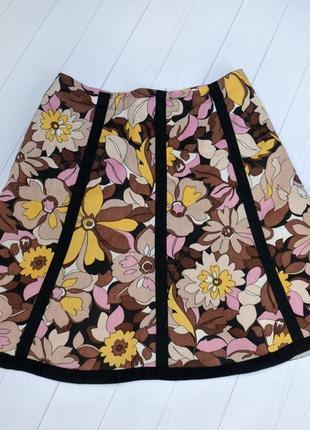 Льняная юбка fusion, размер 36-38