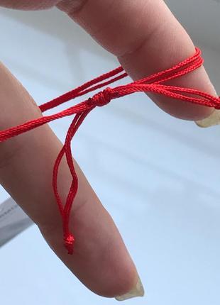 Красная нить серебро 925 пробы браслет  эрцгамма 40525