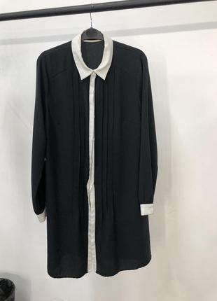 Платье рубашка черно-белое definitions