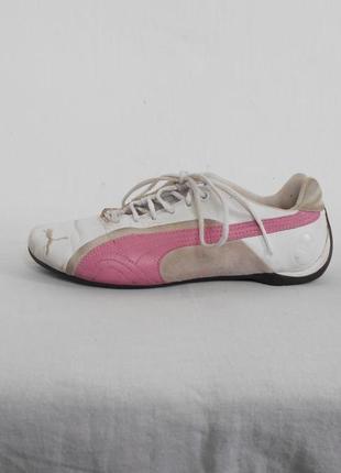 Легкие кожаные спортивные кроссовки puma