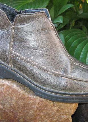 Кожаные сапожки полусапожки ботинки rieker