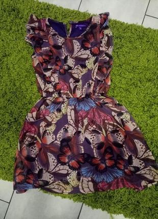 Платье шифоновое в бабочку