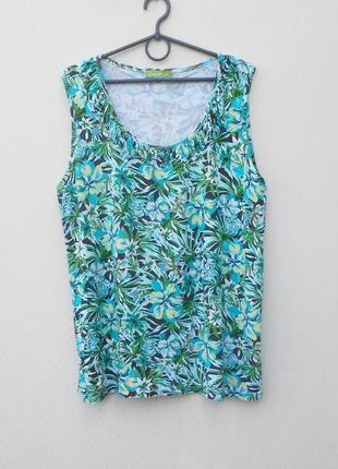 Летняя трикотажная блузка из вискозы