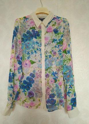 Блуза в цветочный принт,размер 14, бренда papaya