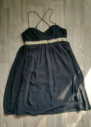 Чудова чорна шифонова сукня / чудесное черное шифоновое платье dorothy perkins