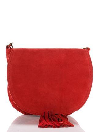 Замшевая красная сумка annis италия разные цвета