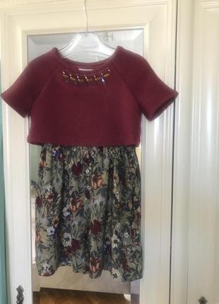 Стильне плаття для дівчинки! підійде і на осінь! 4-5 pоків