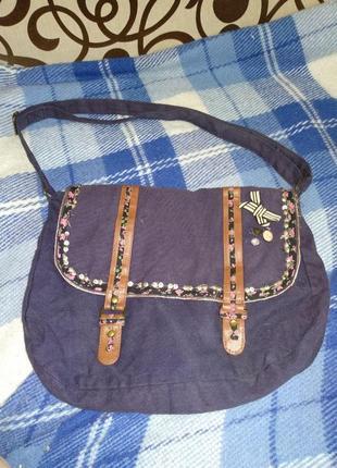 Объемная тканевая сумка